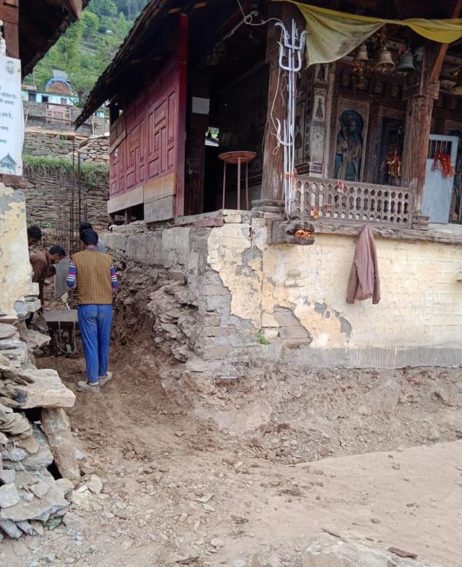 Concretisation damages Chamba temple heritage