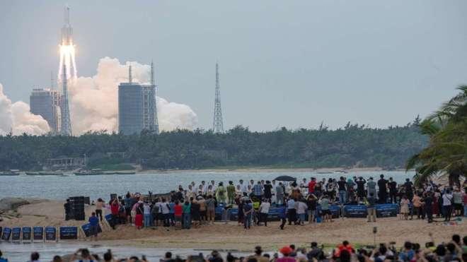China under fire after rocket debris lands in Indian Ocean