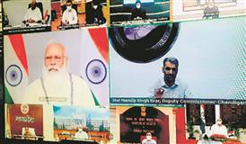 Chandigarh's Covid fight draws a pat from PM Modi