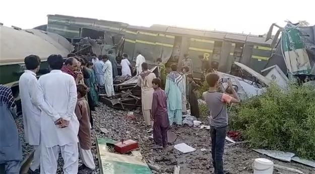 36 killed, scores injured as two passenger trains collide in Pakistan's Sindh
