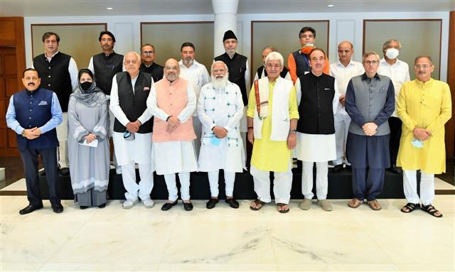 'Govt committed to democratic process': PM Modi tells J-K leaders