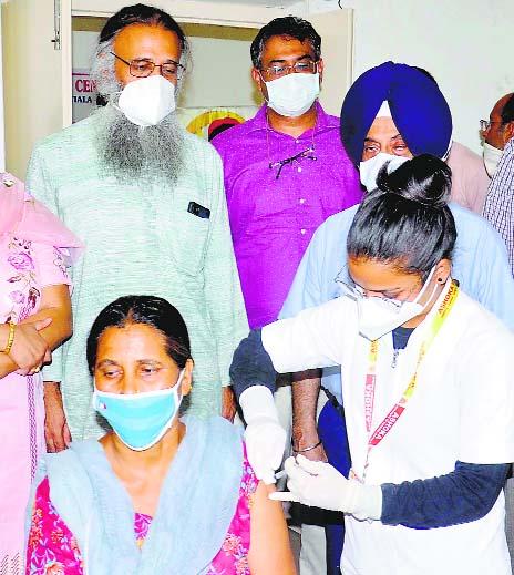 Free vaccine camp held at Punjabi University