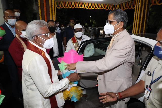CJI Justice NV Ramana offers prayers at Lord Venkateswara temple