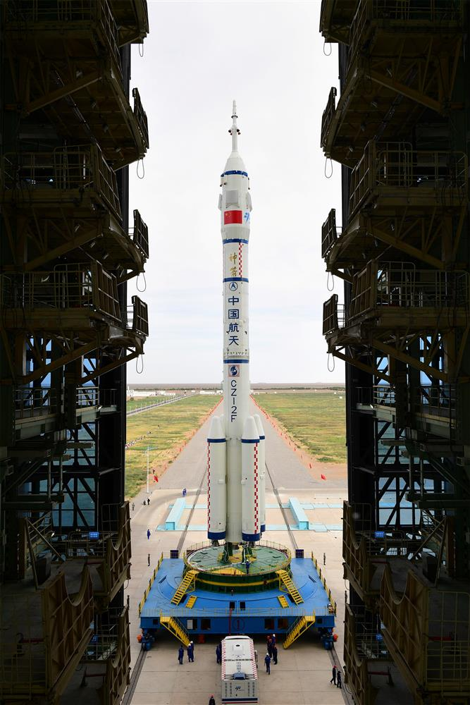 Rocket on pad, China ready to send 1st crew to space station
