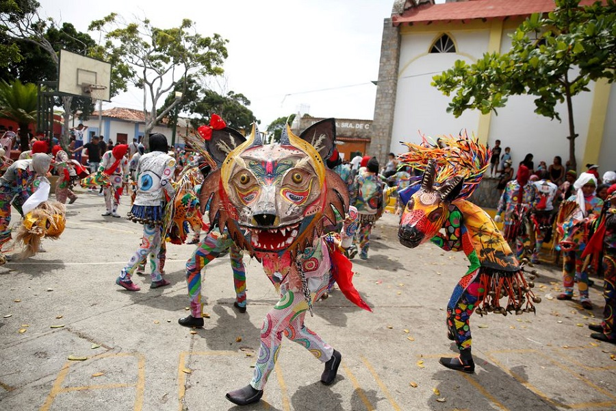 Venezuela's Dancing Devils ask for an end to the pandemic