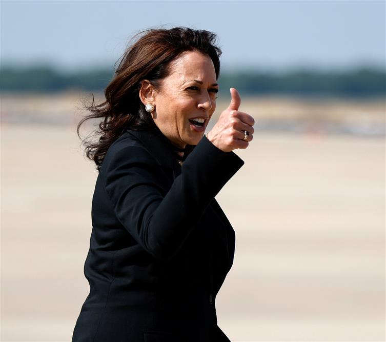 Vice-President Kamala Harris' plane forced to return due to technical  problem