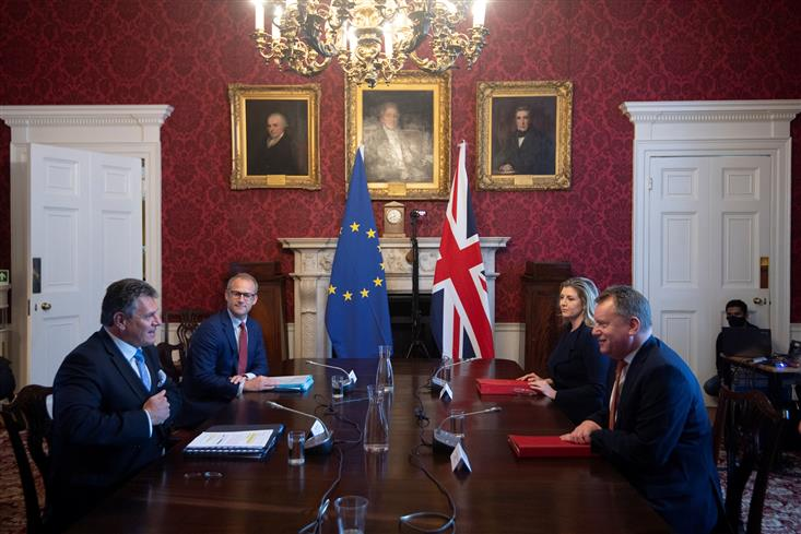 European Union vows a firm response as Brexit tensions rise anew