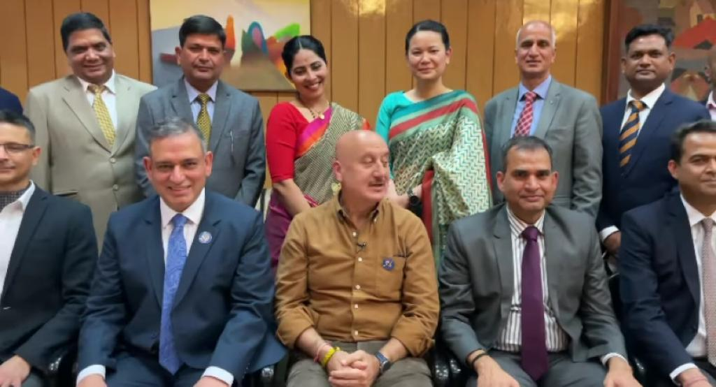 'A humbling experience': Anupam Kher interacts with police officers, staff in Shimla