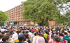 Hundreds of teachers lay siege to Punjab School Education Board building in Mohali