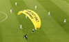 Protester parachutes into stadium ahead of Euro 2020 match, several fans injured