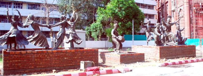 Vandalised in Jan 2020, statues of folk dancers find a new home