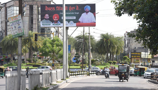 Illegal hoardings cover direction signboards, commuters suffer in Ludhiana