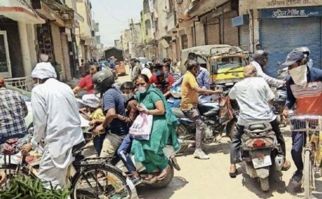 Overcrowding in markets may lead to rise in Covid cases