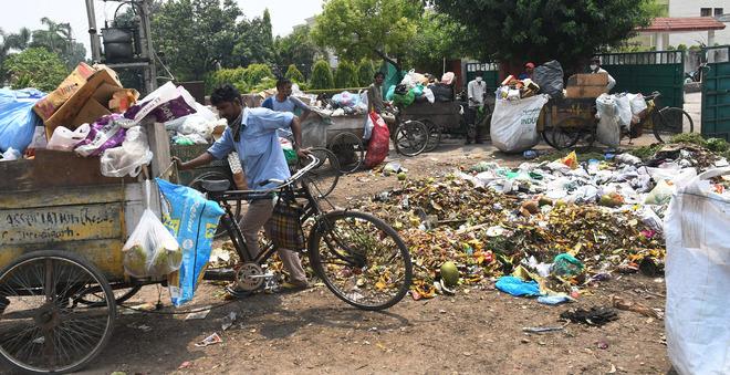 What a waste! Despite two-bin vehicles, rehris still picking garbage