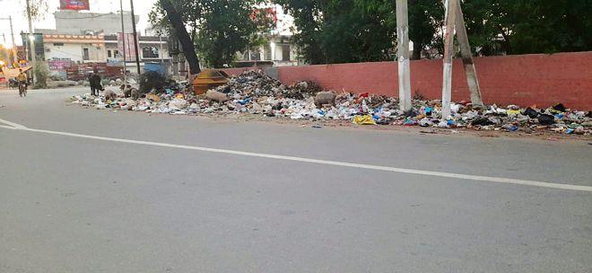 Sanitation staff strike: Protests in Sangrur amid stench