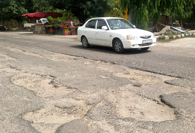 Potholes irk Rohtak residents