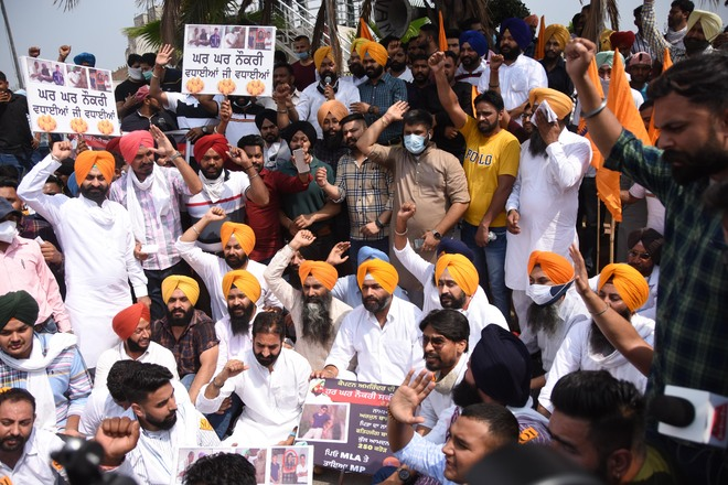 YAD, SOI protest jobs to sons of 2 MLAs