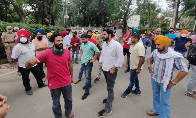 PU scholars protest outside office of  Vice-Chancellor