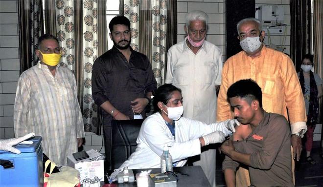 Apahaj Ashram in Jalandhar holds vaccination camp for inmates