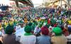 Hisar farmers join protest at Tikri border