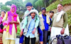 No road link, Chowari villagers in Himachal carry patients on their back