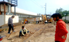 Railways begins removing old track from underpass