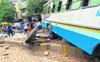 Brakes fail, Haryana Roadways driver rams bus into pole, saves lives