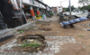Dug-up pathways irk Sector 8 traders