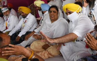 AAP's dharna forced CM to release funds, says Mann