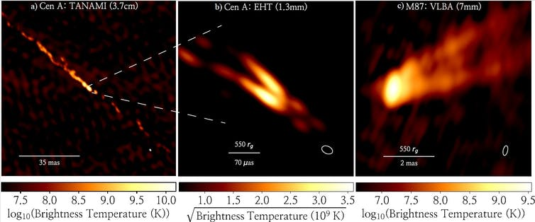 A new image shows jets of plasma shooting out of a supermassive black hole