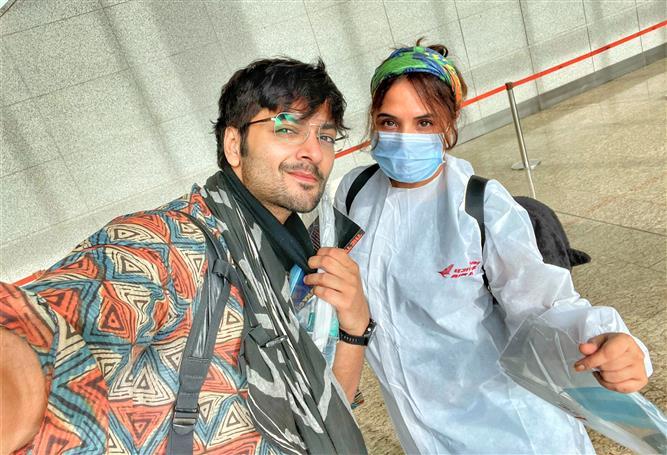 Richa Chadha, Ali Fazal shoot a teaser of their maiden production in Dehradun