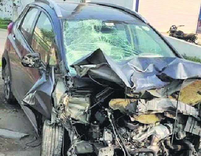 Man, son die after car rams into bike in Patiala