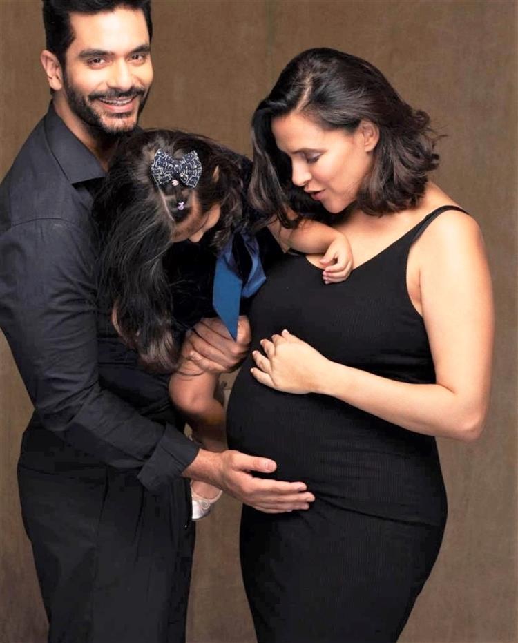 Neha Dhupia announces second pregnancy