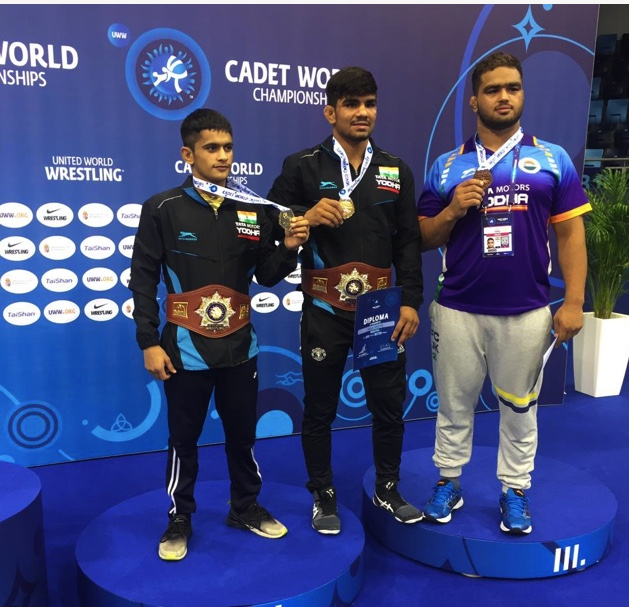 Haryana wrestlers Aman, Sagar win gold in Cadet World Championship