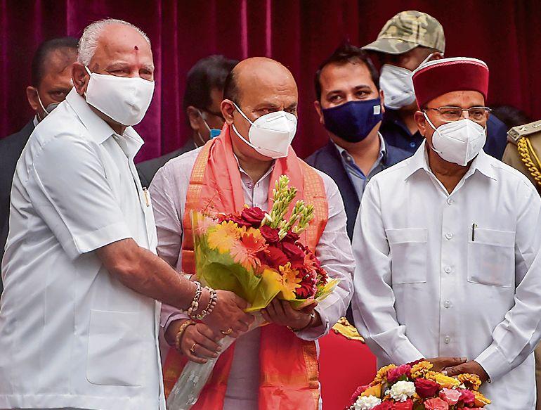 Basavaraj Bommai sworn in as Karnataka CM
