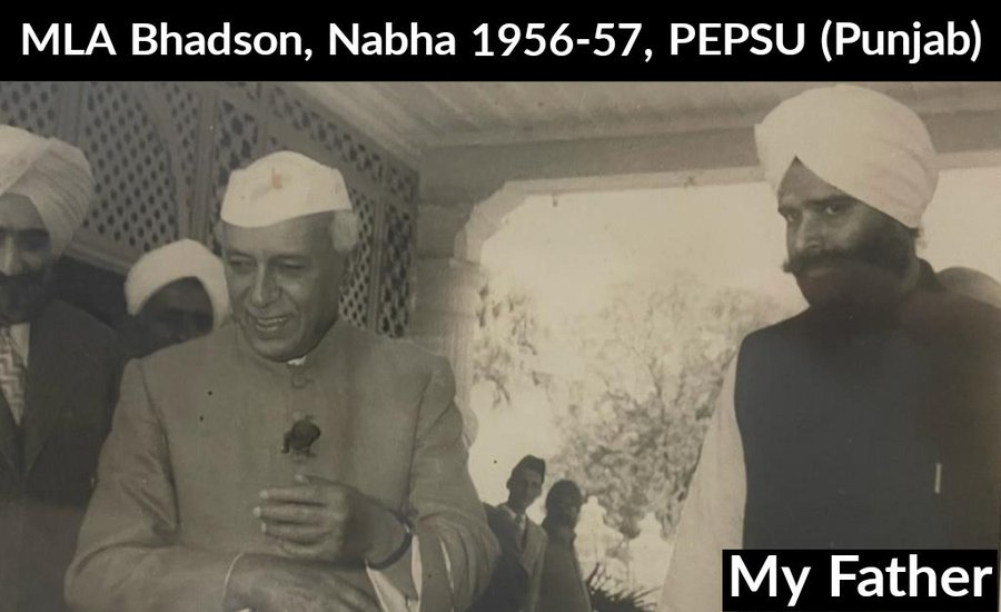 Navjot Sidhu tweets picture of his late father with Pandit Nehru to answer detractors terming him 'an outsider'