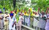 Farmers oppose delegation of BJP workers in Bathinda