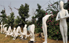Two Jaipur sculptors stretch imagination to promote yoga