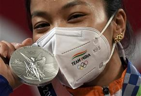 Mirabai Chanu's mother in tears as daughter sports 'good luck' earrings she gifted her in Olympic super show
