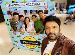 Kapil Sharma, Krushna Abhishek, Bharti get Covid-19 shot ahead of 'The Kapil Sharma Show 3' shoot; see photo