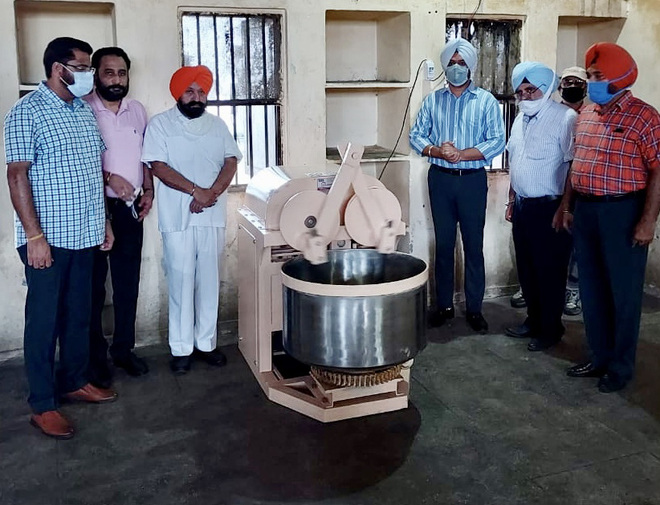 Kneading machine installed at Central Jail in Ludhiana