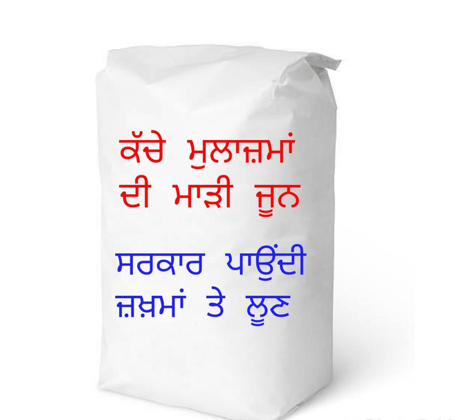 Agitated staff to give salt to MLA Jalandhar Central to 'rub on their wounds'