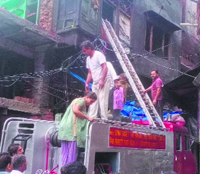 Roof of house collapses in Shakti Nagar Chowk in Amritsar