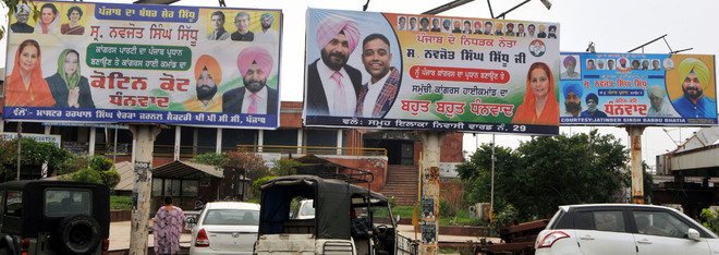 Navjot Singh Sidhu visit leaves behind a trail of defacement of roads in Amritsar