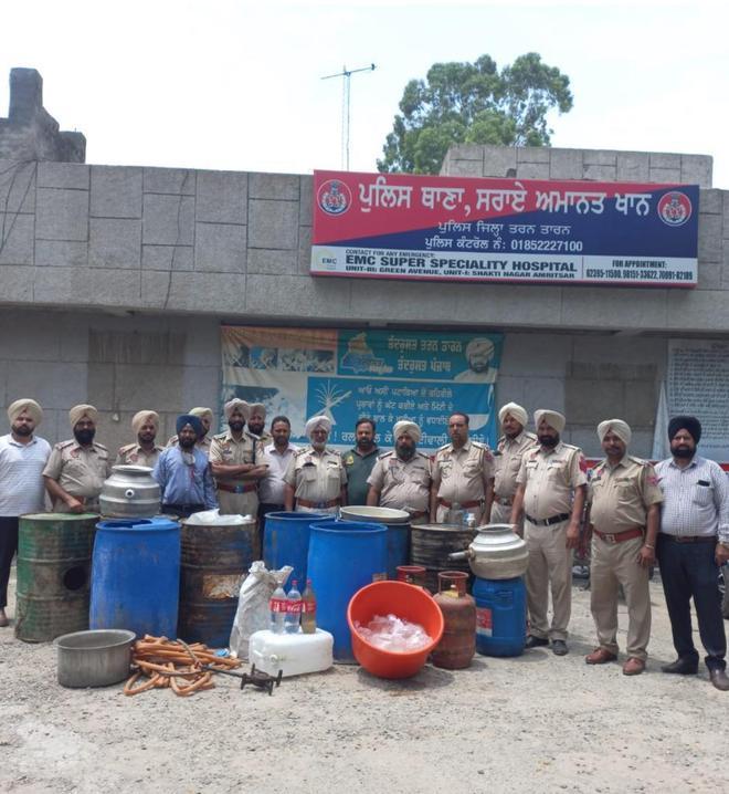 Major haul: Lahan, illicit liquor seized from Tarn Taran villages