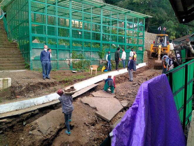 Retaining wall at Himachal CM's Shimla residence sinks