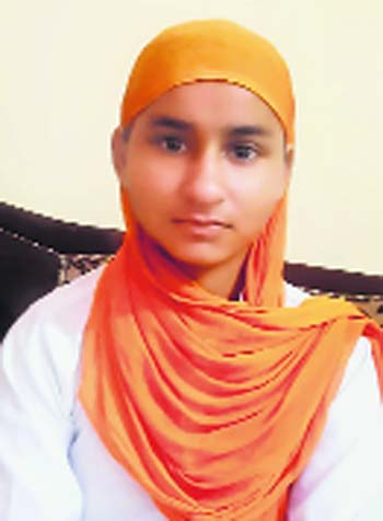 Komalpreet Kaur 3rd in divinity exams conducted by Dharam Parchar committee of SGPC