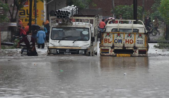 122 mm rain leaves Ludhiana areas flooded