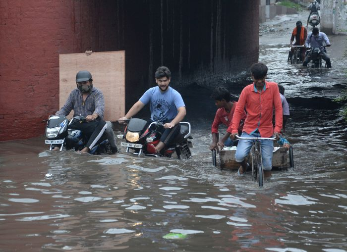 Rain brings relief from heat, but waterlogged roads in Jalandhar spoil charm
