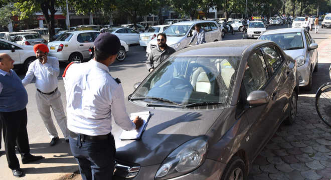 TVIS dues: Chandigarh Cops go door to door, collect Rs 1.59L fine